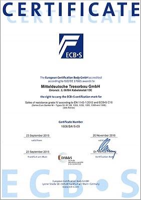 Сертификаты на сейфы Valberg